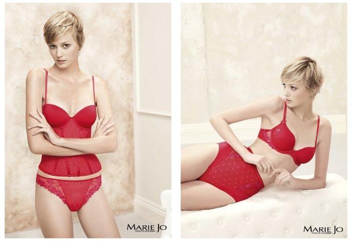 Czerwona bielizna Marie Jo