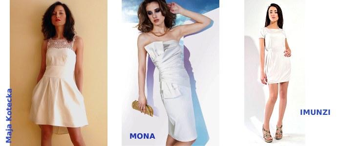 Małe białe sukienki - Maja Kotecka, MONA, IMUNZI