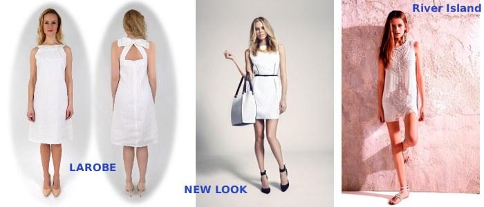 Małe białe sukienki - La ROBE, NEW LOOK, RIVER ISLAND