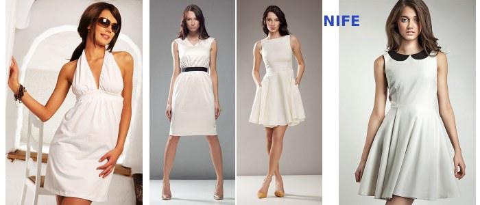 Małe białe sukienki - NIFE