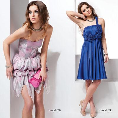 Kolekcja Mona: różowa sukienka i niebieska sukienka