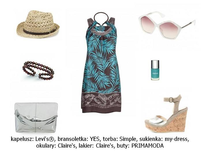 stylizacje letnia sukienka