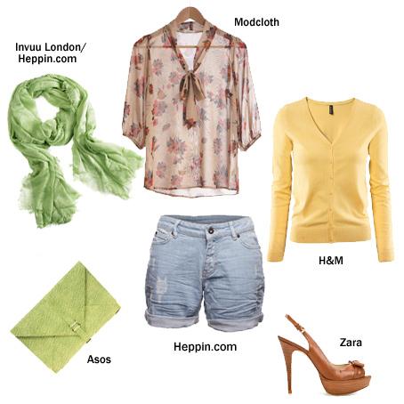 Szorty dżinsowe - Stylizacje na lato 2012 - HEPPIN